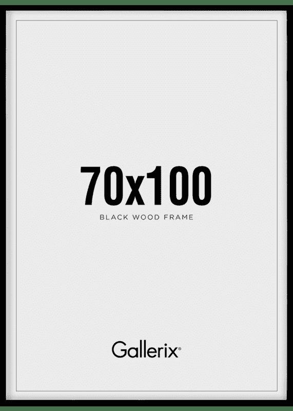 Fotolijst Houten Lijst Zwart 70x100-0