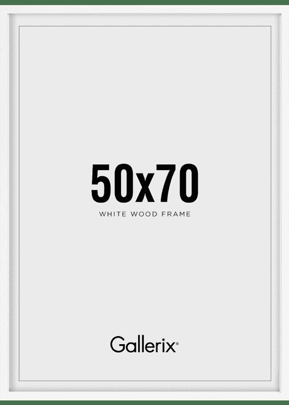Fotolijst Houten Lijst Wit 50x70-0