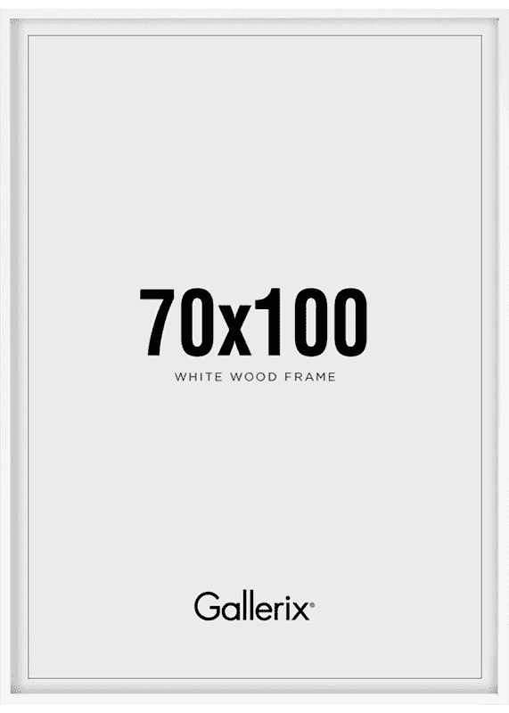 Fotolijst Houten Lijst Wit 70x100-0