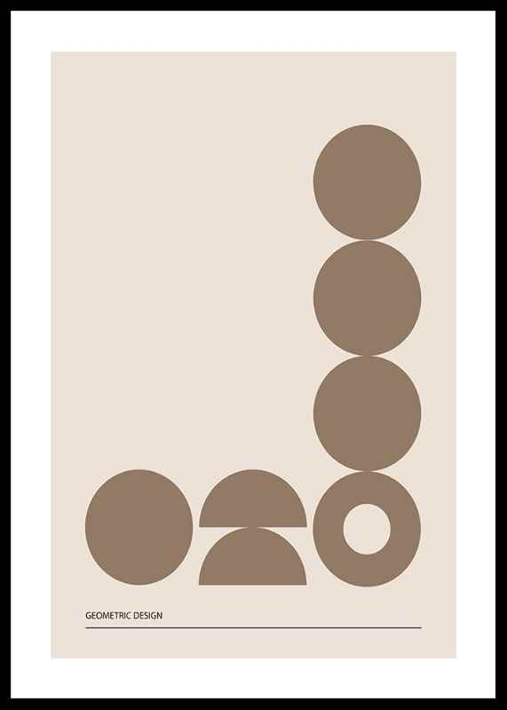 Geometric Graphic Beige No2