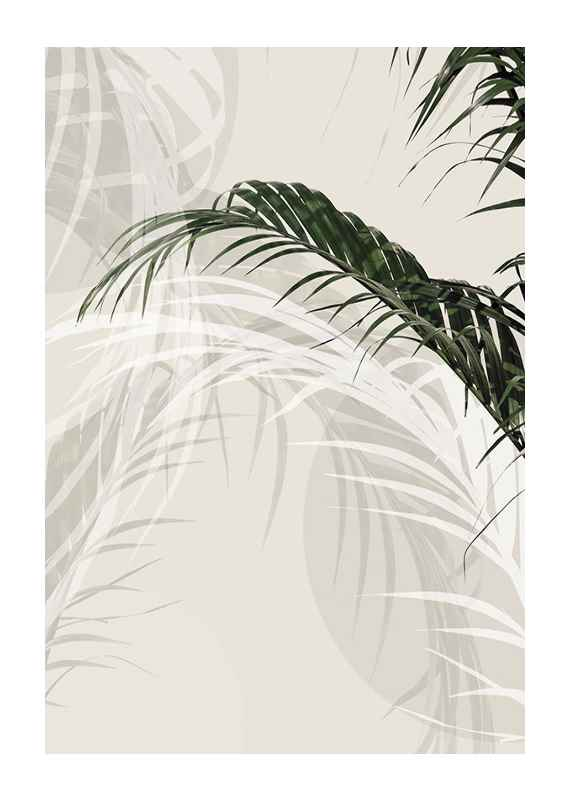 Abstract Palm Leaves No1-1
