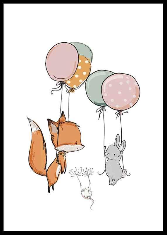 Animals And Balloons No1