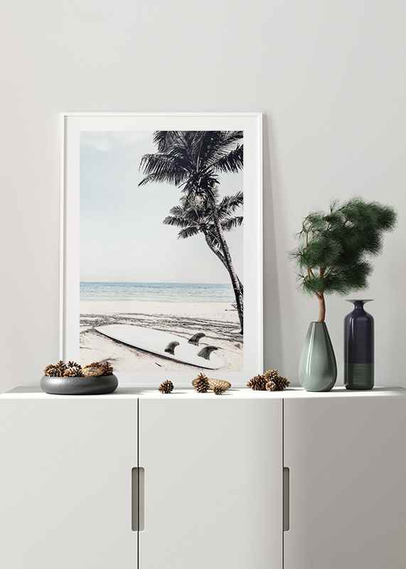 Surfboard On Beach-4