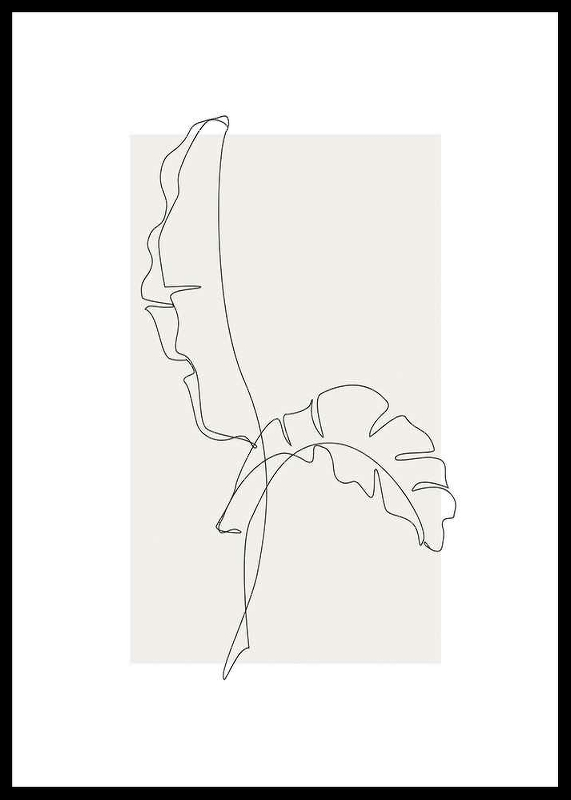 Banana Leaf Line Art No2