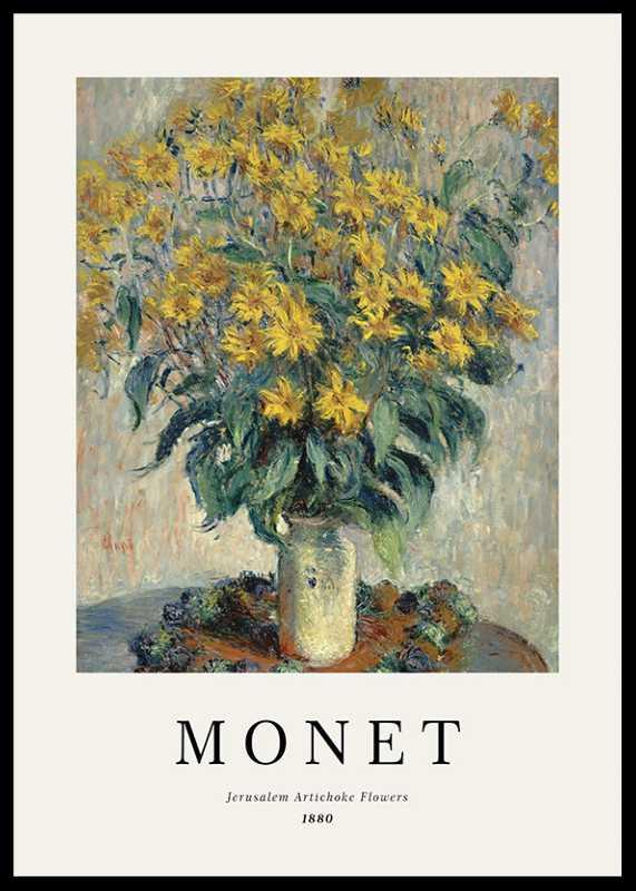 Monet Jerusalem Artichoke Flowers-0