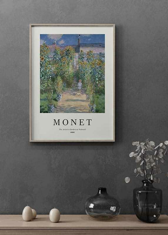 Monet Garden At Vetheuil-2