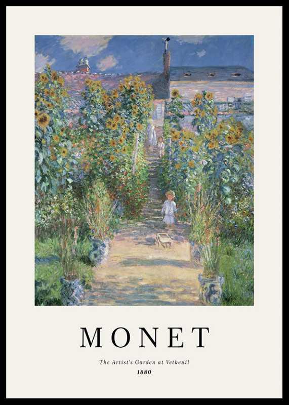 Monet Garden At Vetheuil-0