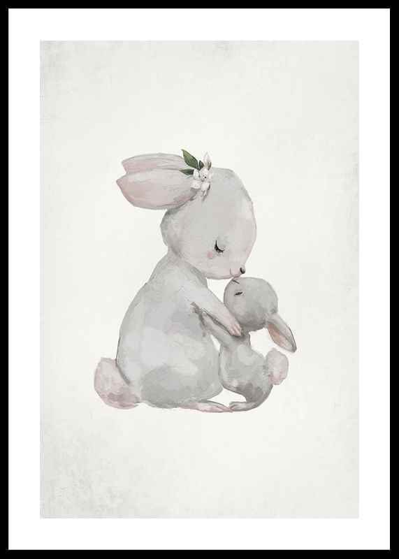 Watercolor Rabbits-0