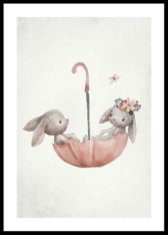 Watercolor Rabbit Friends-0