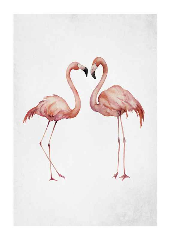 Watercolor Flamingos-1