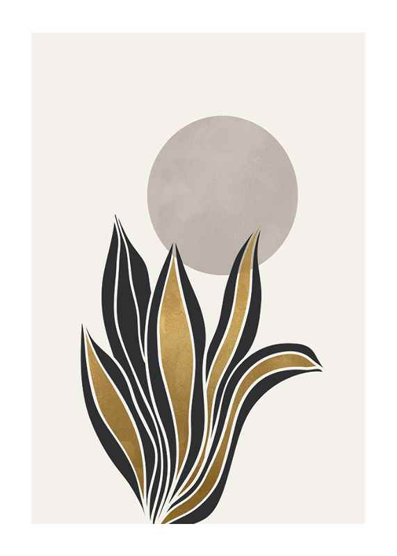 Watercolor Gold No2-1