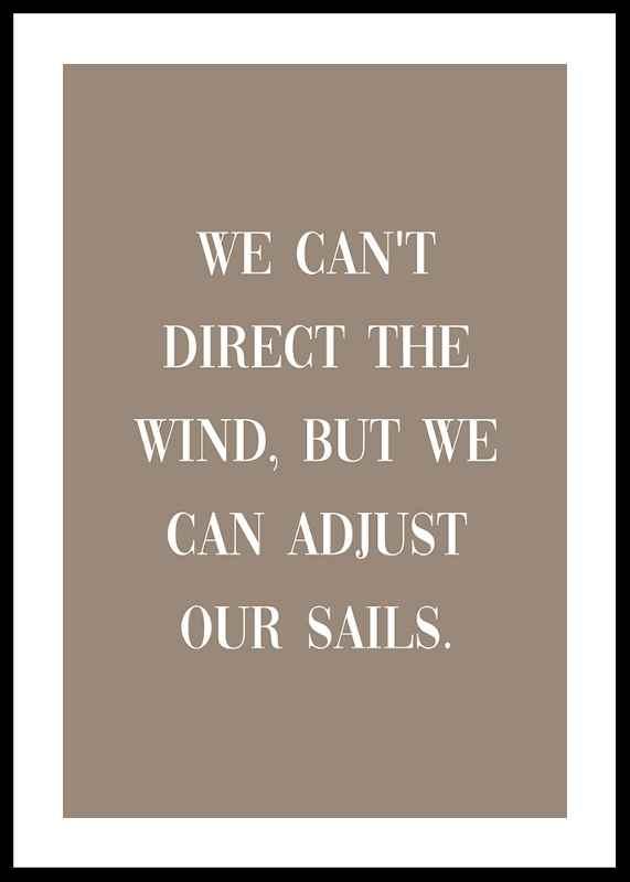 Adjust Our Sails
