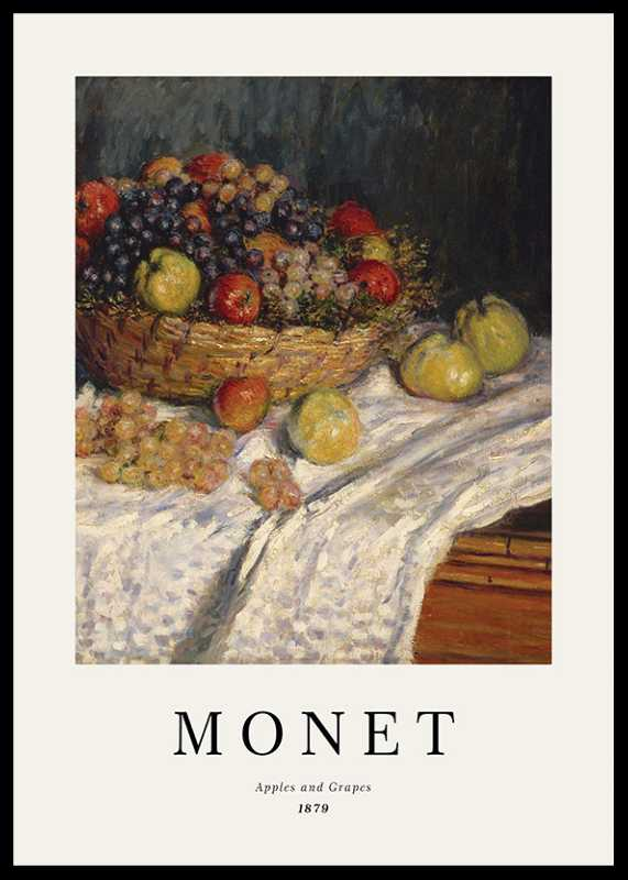 Monet Apples And Grapes-0