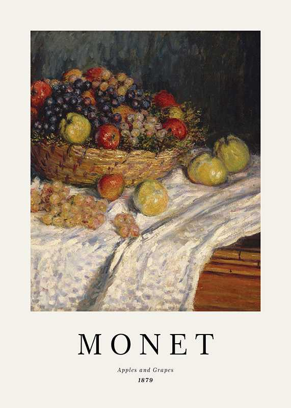 Monet Apples And Grapes-1