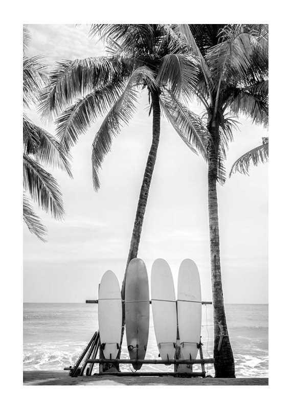 Surfing Boards On Beach-1