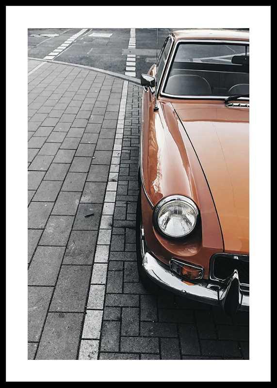 Classic Car On Street-0