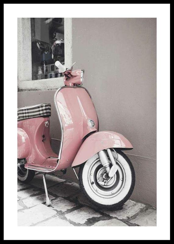 Pink Old Vespa