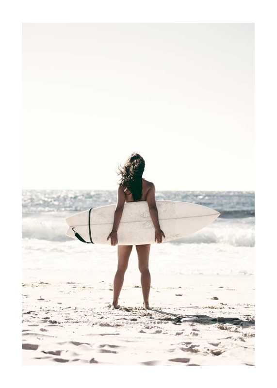 Surfer On Beach-1