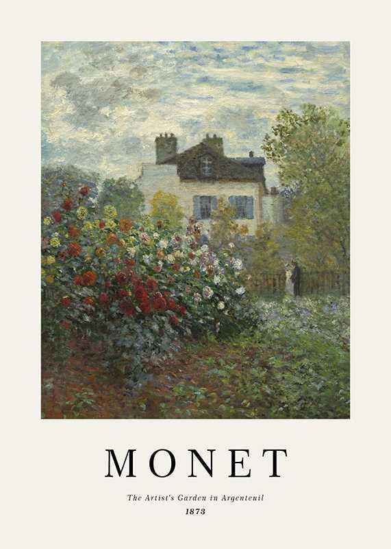Monet Garden In Argenteuil-1