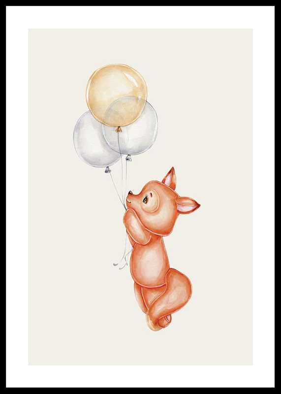 Fox With Balloons-0