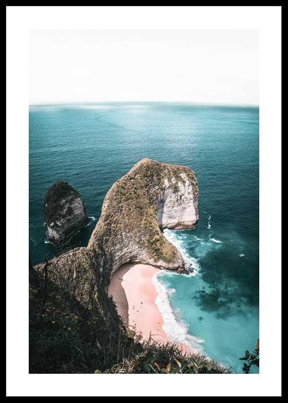 Rocks On Sea Shore-0